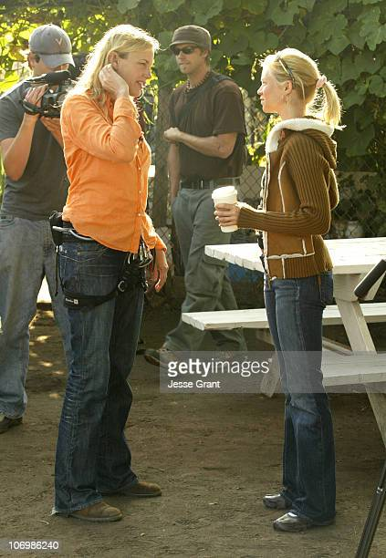 Daryl Hannah and Amy Smart during Daryl Hannah Protests the Closing of South Central Los Angeles Farm June 1 2006 in Los Angeles California United...