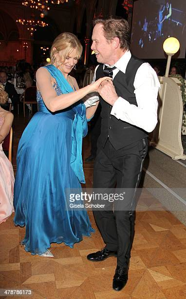 Daryl Hannah and Peter Kraus dance at the 5th Filmball Vienna at City Hall on March 14 2014 in Vienna Austria