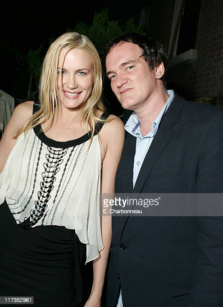 Daryl Hannah and Quentin Tarantino during 2005 Taurus World Stunt Awards After Party at Paramount Studios in Los Angeles California United States