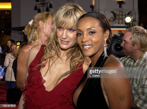 Daryl Hannah and Vivica A Fox during Kill Bill Vol 1 Premiere Red Carpet at Grauman's Chinese Theater in Hollywood California United States