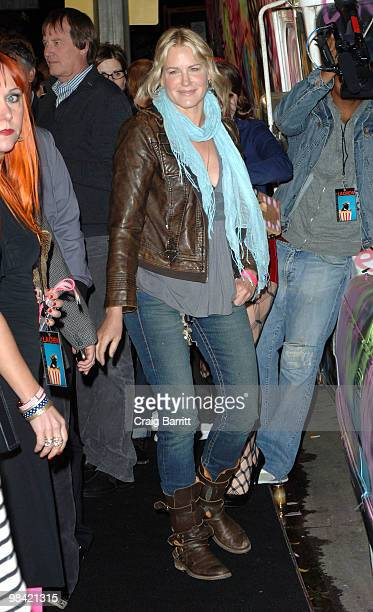 Daryl Hannah arrives at Banksy's 'Exit Through The Gift Shop' Los Angeles Premiere on April 12 2010 in Los Angeles California
