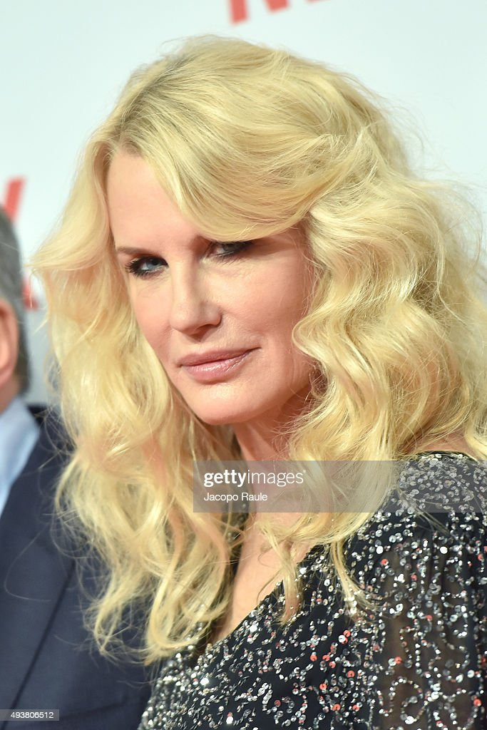 Daryl Hannah attends a red carpet for the Netflix launch at Palazzo Del Ghiaccio on October 22, 2015 in Milan, Italy.