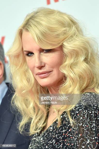 Daryl Hannah attends a red carpet for the Netflix launch at Palazzo Del Ghiaccio on October 22 2015 in Milan Italy