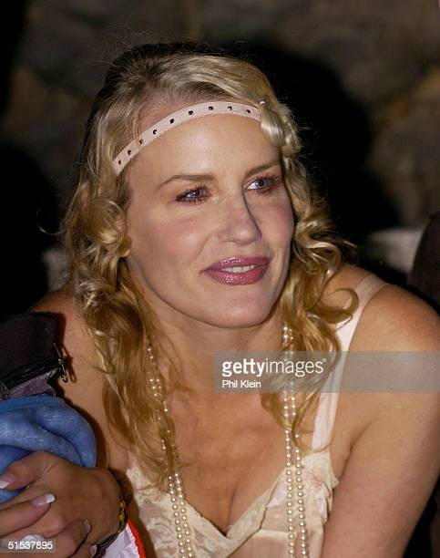 Daryl Hannah attends a roaring 20's themed celebration for the Central Coast Clean Cities Coalition at Hearst Castle October 21 2004 in San Simeon...