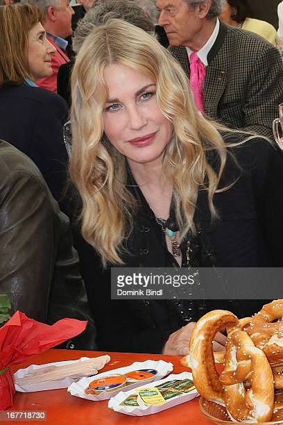 Daryl Hannah attends the Gut Aiderbichl Iffeldorf Opening on April 28 2013 in Iffeldorf Germany