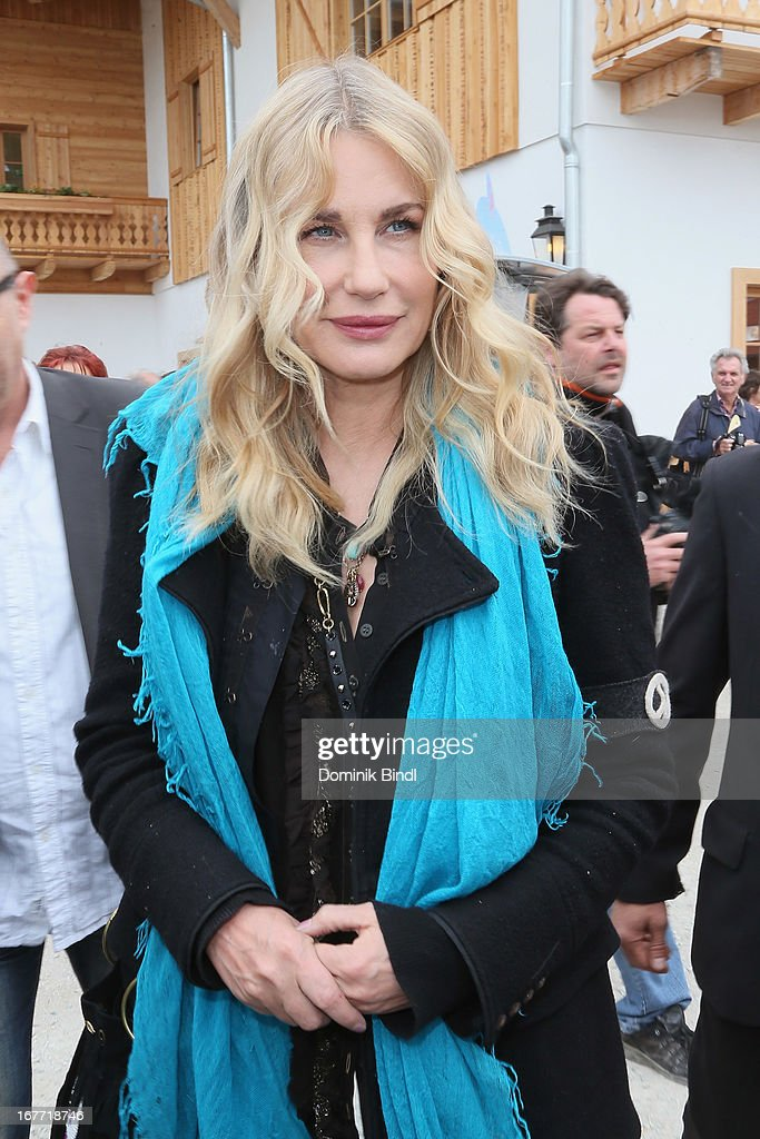 Daryl Hannah attends the Gut Aiderbichl Iffeldorf Opening on April 28, 2013 in Iffeldorf, Germany.