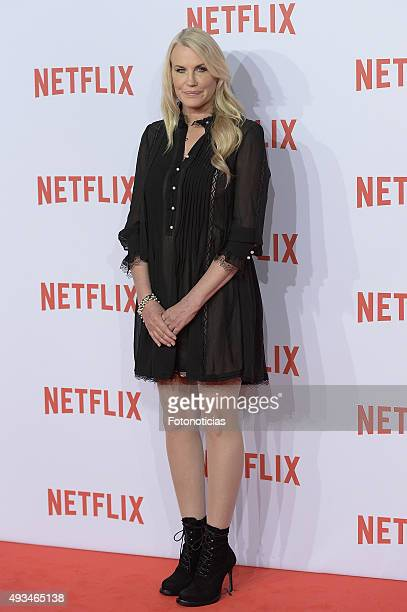 Daryl Hannah attends the red carpet of Netflix presentation at the Matadero Cultural Center on October 20 2015 in Madrid Spain