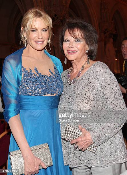 Daryl Hannah Claudia Cardinale attend the 5th Filmball Vienna at City Hall on March 14 2014 in Vienna Austria