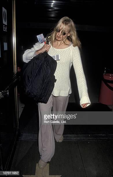 Daryl Hannah during Daryl Hannah at LAX December 28 1993 at Los Angeles International Airport in Los Angeles California United States