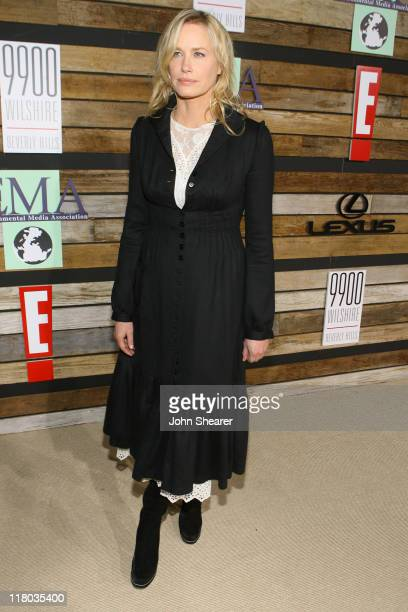 Daryl Hannah during E and EMA's 2007 Golden Globe After Party Red Carpet and Inside at Beverly Hilton in Beverly Hills California United States