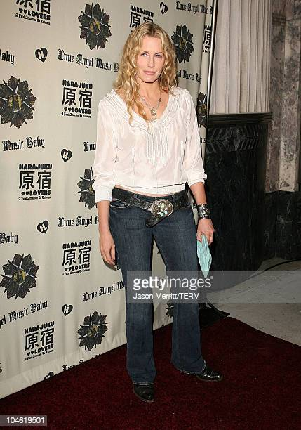Daryl Hannah during Gwen Stefani Previews 'Harajuku Lovers' Apparel Line at The Hollywood Museum in Hollywood California United States
