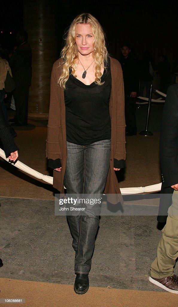 Daryl Hannah during Opening Celebration of Gregory Colbert's 'Ashes and Snow' Exhibition - Arrivals at Nomadic Museum in Santa Monica, California, United States.