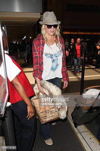 Daryl Hannah is seen at LAX on April 04 2016 in Los Angeles California