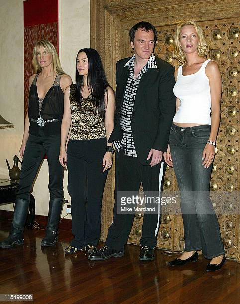 Daryl Hannah Julie Dreyfus Quentin Tarantino and Uma Thurman