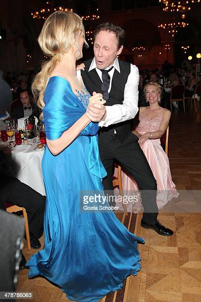 Daryl Hannah Peter Kraus dancing at the 5th Filmball Vienna at City Hall on March 14 2014 in Vienna Austria