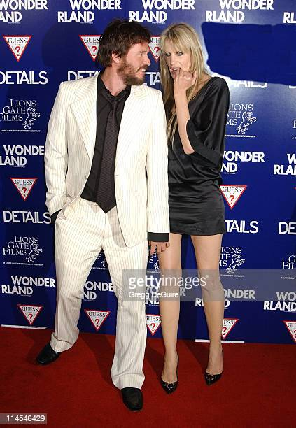 Daryl Hannah Val Kilmer during Wonderland Premiere hosted by DETAILS GUESS Arrivals at Grauman's Chinese Theatre in Hollywood California United States