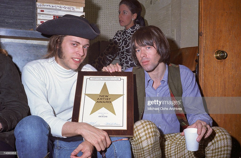 Daryl Hooper And Sky Saxon Of The Seeds Poses For A