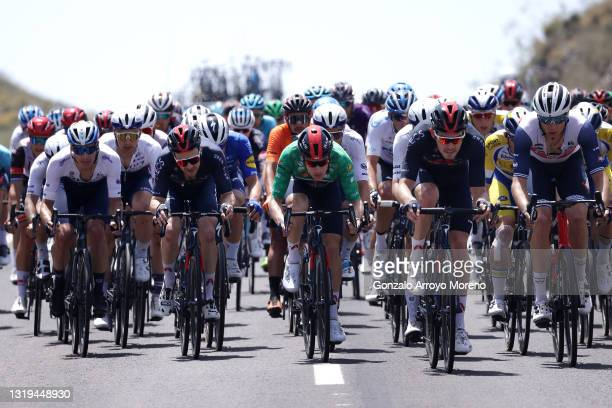 Daryl Impey of South Africa and Team Israel Start-Up Nation, Owain Doull of United Kingdom, Ethan Hayter of United Kingdo Green Points Jersey, Luke...