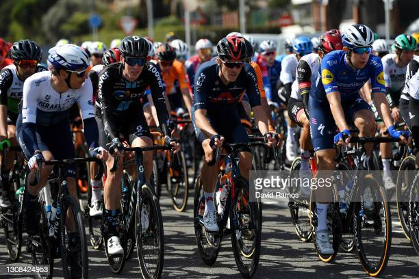 Daryl Impey of South Africa and Team Israel Start-Up Nation, Thymen Arensman of Netherlands and Team DSM, Rohan Dennis of Australia and Team INEOS...