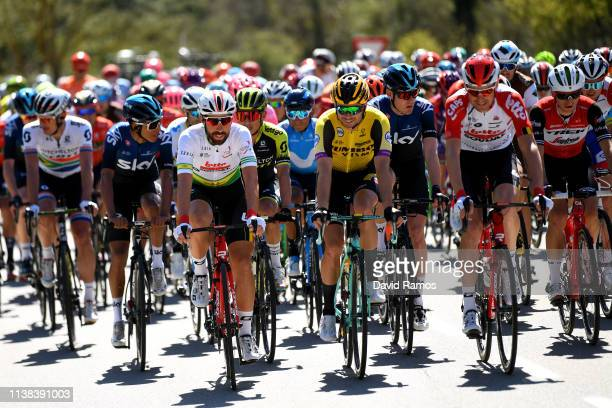 Daryl Impey of South Africa and Team Mitchelton - Scott / Thomas De Gendt of Belgium and Team Lotto Soudal Green Leader Jersey / Johan Esteban Chaves...