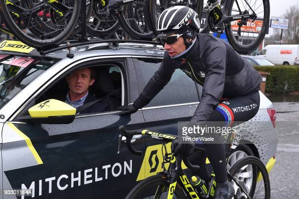 Daryl Impey of South Africa and Team MitcheltonScott / Car / during the 109th MilanSanremo 2018 a 291km race from Milan to Sanremo on March 17 2018...