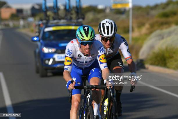 Daryl Impey of South Africa and Team Mitchelton-SCOTT / Dries Devenyns of Belgium and Team Deceuninck - Quick-Step / during the 4th Towards Zero Race...