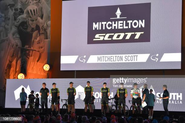 Daryl Impey of South Africa and Team MitcheltonScott / Luke Durbridge of Australia and Team MitcheltonScott / Alex Edmondson of Australia and Team...