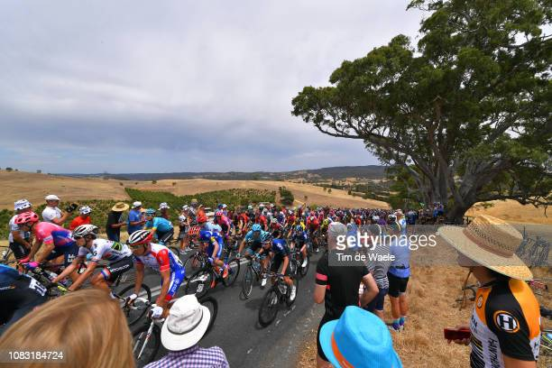 Daryl Impey of South Africa and Team Mitchelton-Scott / Matthieu Ladagnous of France and Team Groupama-FDJ / Luke Rowe of Great Britain and Team Sky...