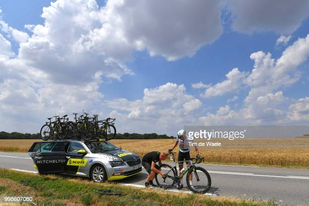 Daryl Impey of South Africa and Team MitcheltonScott / Mechanical problem / Car / during the 105th Tour de France 2018 Stage 8 a 181km stage from...