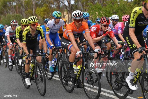 Daryl Impey of South Africa and Team Mitchelton-SCOTT Orange Leader Jersey / Simon Yates of United Kingdom and Team Mitchelton-SCOTT / Peloton /...