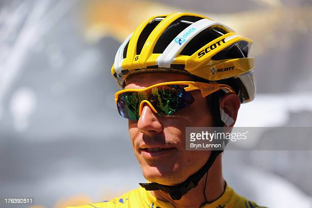 Daryl Impey of South Africa and the Orica Greenedge team during is seen at the start of stage eight of the 2013 Tour de France a 195KM road stage...