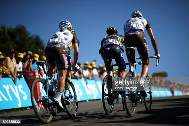 Daryl Impey of South Africa riding for Orica - Scott rides during during stage five of the 2017 Le Tour de France, a 160.5km stage from Vittel to La...
