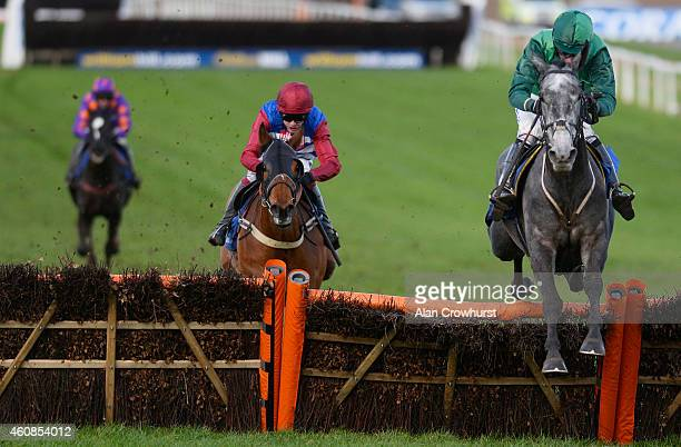Daryl Jacob riding Bristol De Mai clear the last to win The coralcouk Future Champions Finale Juvenile Hurdle Race at Chepstow racecourse on December...
