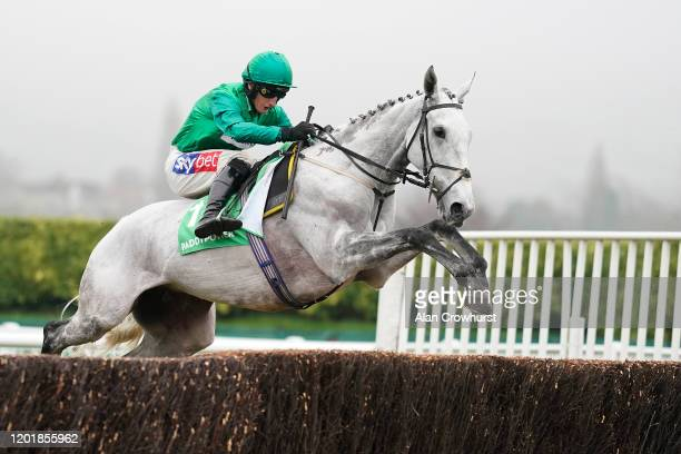 Daryl Jacob riding Bristol De Mai in action during The Paddy Power Cotswold Chase at Cheltenham Racecourse on January 25, 2020 in Cheltenham, England.