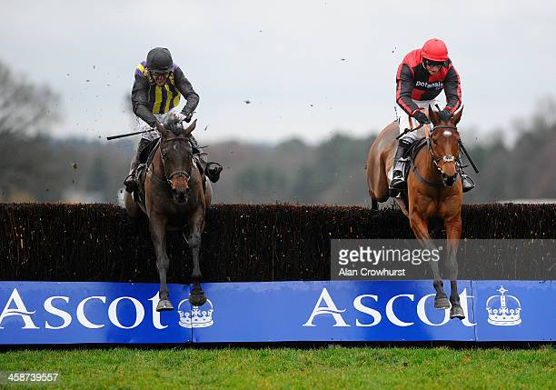 Daryl Jacob riding Easter Day clear the last to win The David Johnson Memorial Shawbrook Graduation Steeple Chase from O'Faolains Boy at Ascot...