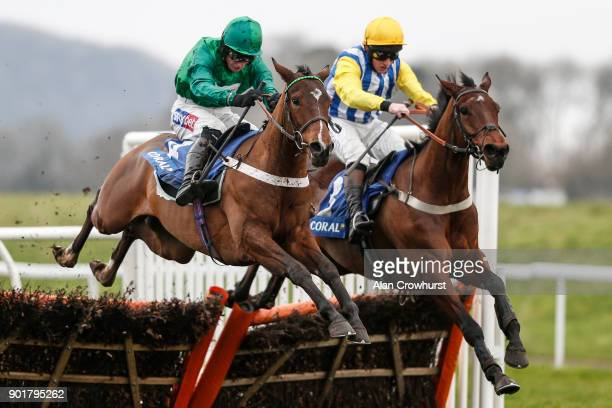 Daryl Jacob riding We Have A Dream clear the last to win The Coral Future Champions Finale Juvenile Hurdle Race from Sussex Ranger at Chepstow...