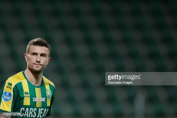 Daryl Janmaat of ADO Den Haag during the Dutch Eredivisie match between ADO Den Haag v VVV-Venlo at the Cars Jeans Stadium on January 13, 2021 in Den...
