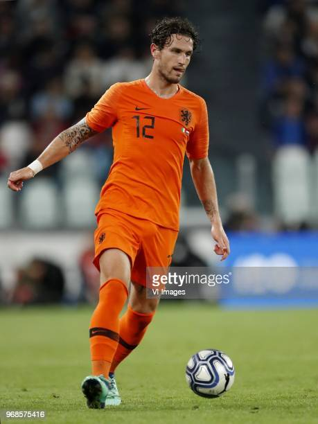 Daryl Janmaat of Holland during the International friendly match between Italy and The Netherlands at Allianz Stadium on June 04 2018 in Turin Italy