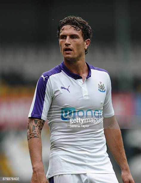 Daryl Janmaat of Newcastle during the Pre Season Friendly match between KSC Lokeren and Newcastle United on July 23 in Lokeren Belgium