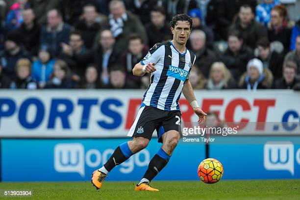 Daryl Janmaat of Newcastle during the Premier League Match between Newcastle United and AFC Bournemouth at St.James' Park on March 5 in Newcastle...