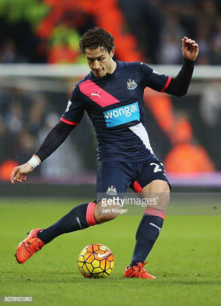 Daryl Janmaat of Newcastle United in action during the Barclays Premier League match between West Bromwich Albion and Newcastle United at The...