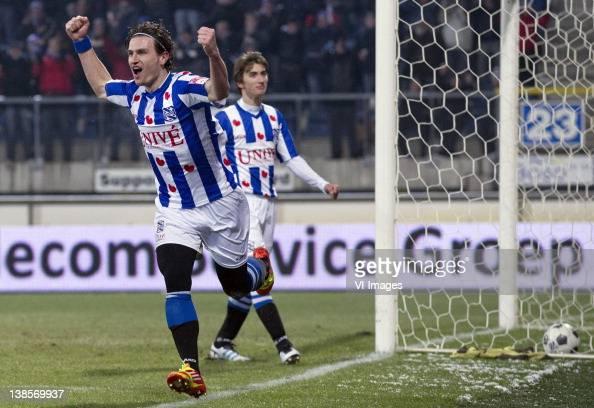Daryl Janmaat Of SC Heerenveen Celebrates After Scoring A