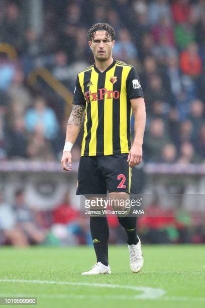 Daryl Janmaat of Watford during the Premier League match between Burnley FC and Watford FC at Turf Moor on August 19 2018 in Burnley United Kingdom
