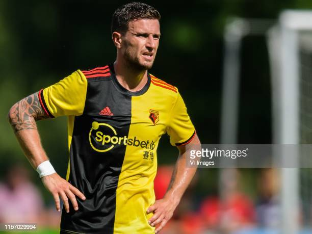Daryl Janmaat of Watford FC during the Pre-season Friendly match between Bayer 04 Leverkusen v Watford FC at Alois Latini Stadion on July 20, 2019 in...
