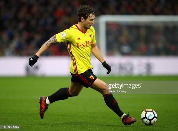 Daryl Janmaat of Watford in action during The Emirates FA Cup Third Round match between Watford and Bristol City at Vicarage Road on January 6 2018...