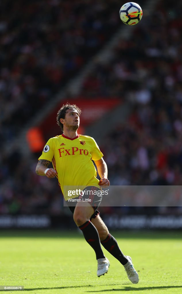 Daryl Janmaat of Watford in action during the Premier League match between Southampton and Watford at St Mary's Stadium on September 9, 2017 in Southampton, England.