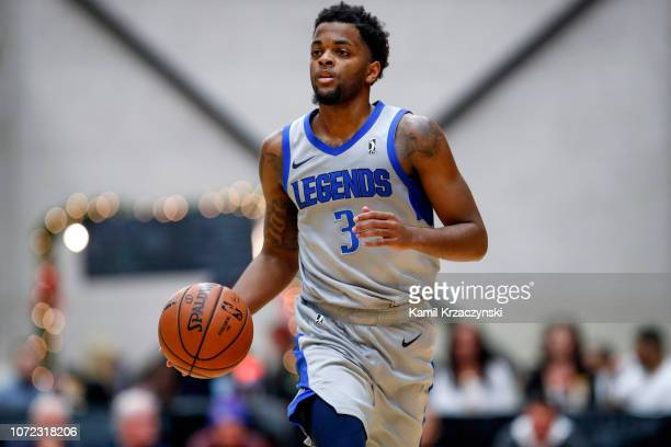 Daryl Macon of the Texas Legends brings the ball up court against the Grand Rapids Drive on December 12 2018 at DeltaPlex Arena in Grand Rapids...