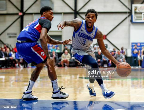 Daryl Macon of the Texas Legends drives to the basket against the Grand Rapids Drive on December 12 2018 at DeltaPlex Arena in Grand Rapids Michigan...