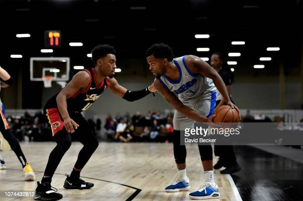 Daryl Macon of the Texas Legends handles the ball against the Erie BayHawks during the NBA G League Winter Showcase at Mandalay Bay Events Center in...