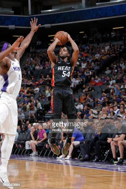 Daryl Macon shoots the ball against the Sacramento Kings during the 2018 Summer League at the Golden 1 Center on July 5 2018 in Sacramento California...